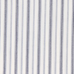 13. Thin blue, grey, white striped cotton