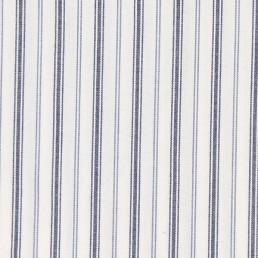 13. Thin blue, grey, white striped cotton