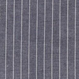 37. Blue-white pinstriped cotton