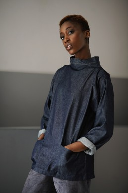 Anglar Unisex smock by sustainable ethical clothing brand Lanefortyfive London