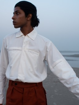 Sustainably made Lanefortyfive shirt in recycled cotton