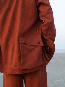 Sustainably made Lanefortyfive jacket in cotton moleskin