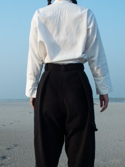 Sustainably made Lanefortyfive trousers in cotton moleskin