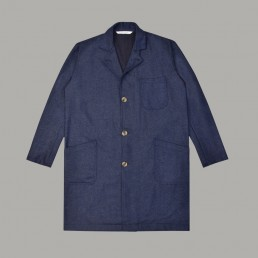 CJ05/ Lapelled long coat lanefortyfive