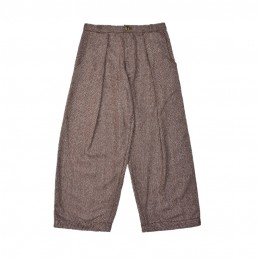CT02/ Pleated wide trousers