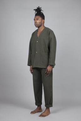 CJ04/ Oversized V-neck jacket Lanefortyfive
