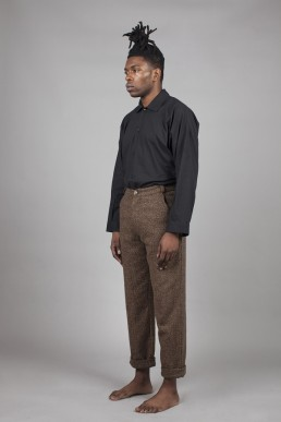 CT04/ Slim turned-up trousers lookbook Lanefortyfive