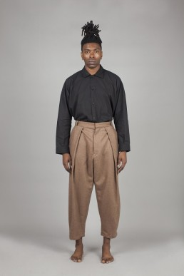 CT01/ Pleated bag trousers lookbook Lanefortyfive