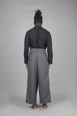 CT02/ Pleated wide trousers lookbook Lanefortyfive