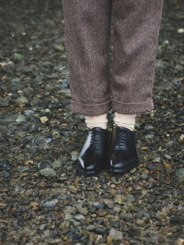Tweed trousers turn-up lanefortyfive