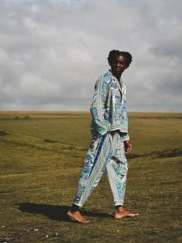 Itan 1 trousers lanefortyfive blockprinted